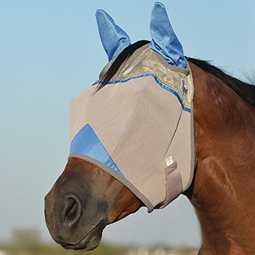 Cashel Crusader Standard Fly Mask with Ears and Blue Trim, Benefit Wounded Warriors - Size: - Cashel Fly Mask Pink