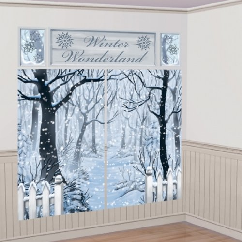 Wonderland Winter Roll Room (Partypackage Ltd Winter Wonderland Scene Setter Kit Party Decoration)
