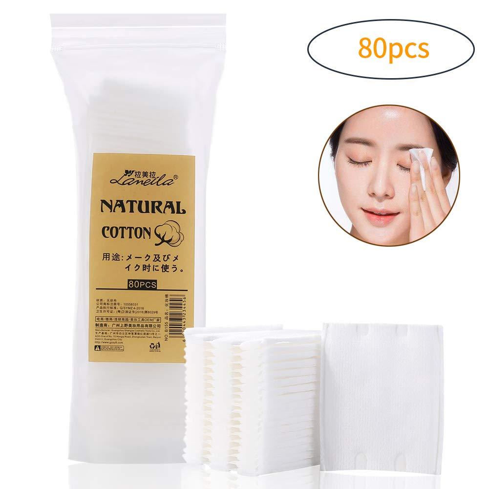 lameila Baby Baumwolle Pads (60x50) Gesichts-Make-up-Entferner Pads Reinigung Baumwolle–80Stück