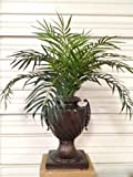 3' Phoenix Palm Plant Artificial Arrangement Silk Tree Bush In Urn Pot