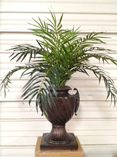 3' Phoenix Palm Plant Artificial Arrangement Silk Tree Bush In Urn Pot by Black Decor Home