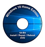 Windows 10 Home Edition 64-Bit Installation & Format HDD DVD Disc
