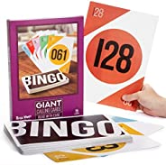 """Giant Bingo Calling Cards - 75 Pack of Jumbo Sized Call Cards for Bingo - Measure in at 8.25"""" x 11.75&quo"""