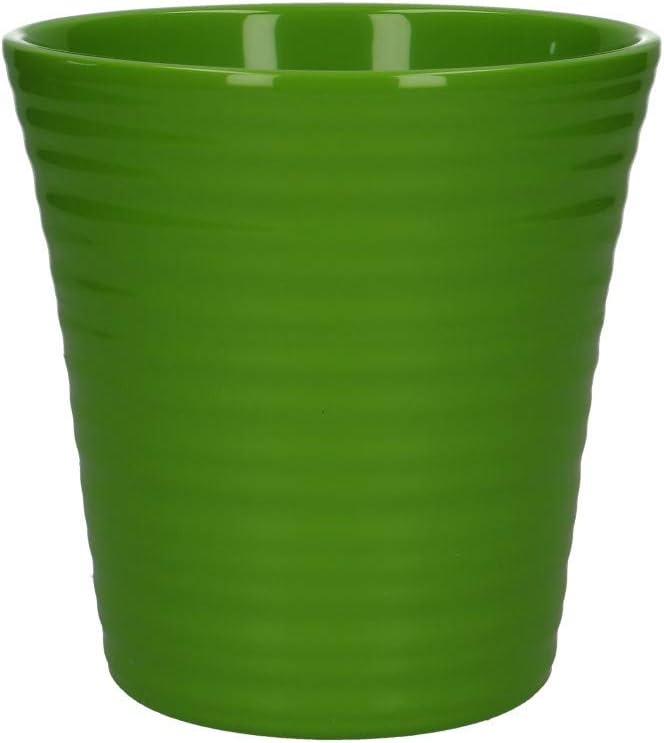 Maranta Grünpflanze im Tontopf Kunstpflanze grün rot 30 cm hoch