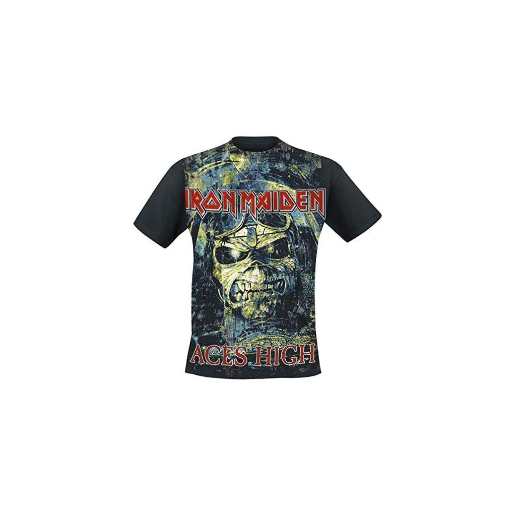 Iron Maiden Aces High Camiseta Negro