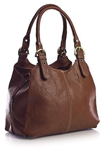 Marrone Big Shop Handbag mano donna a Borsa Mittlere Tan YwaTxqwzA