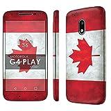 wallpaper canada - Motorola Moto G Play [4th Gen] Decal Mania Skin Sticker [Matching Wallpaper] - [Flag Canada] for Moto [G4 Play]