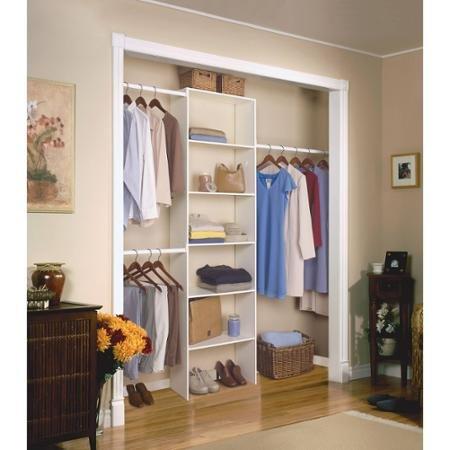 Vertical Closet Organizer, White