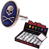 Oval Skull Colour Changing Mood Ring