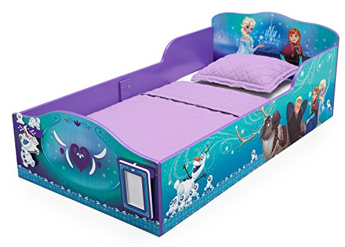 Delta Children Disney Frozen Wood Toddler Bed with Track Buddies
