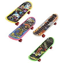 Finger Board - SODIAL(R)Mini 4 Pack Finger Board Tech Deck Truck Skateboard Toy Gift Kids Children Gift 95mm
