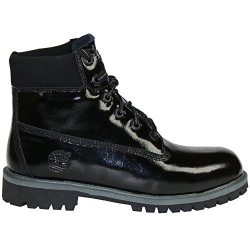 Timberland 6 Inch Premium Waterproof (Big Kids) Boots (6, Black Shine) by Timberland