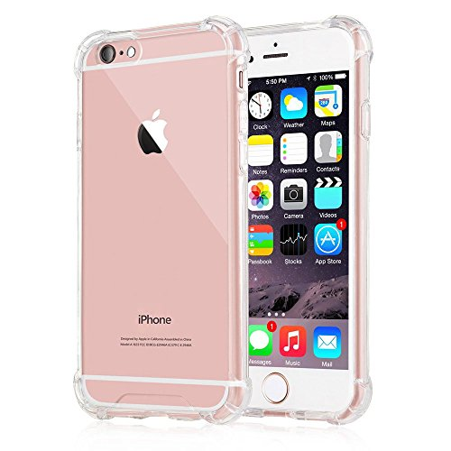 iPhone 6s Case,Yoyamo iPhone 6s Crystal Clear Cover Case [Shock Absorption] with Transparent Hard Plastic Back Plate and Soft TPU Gel Bumper
