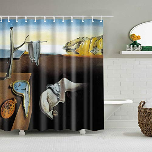 (INVIN ART [Upgraded Version] Bathroom Shower Curtain The Persistence of Memory by Salvador Dali)