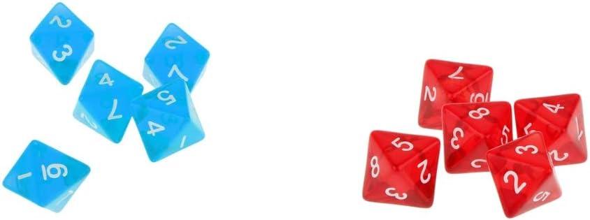 SM SunniMix D8 Dados Dice Prop para Juego de Mesa de Tablero DND MTG RPG (10 Unids): Amazon.es: Juguetes y juegos