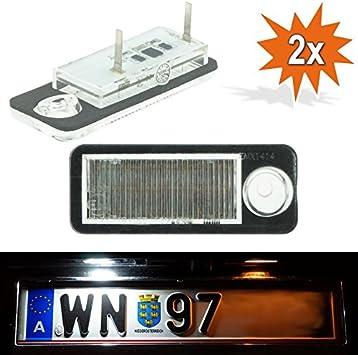 Do Led A6w Led Kennzeichenbeleuchtung Mit E Prüfzeichen Nur Für Kombi Avant Xenon Optik Auto