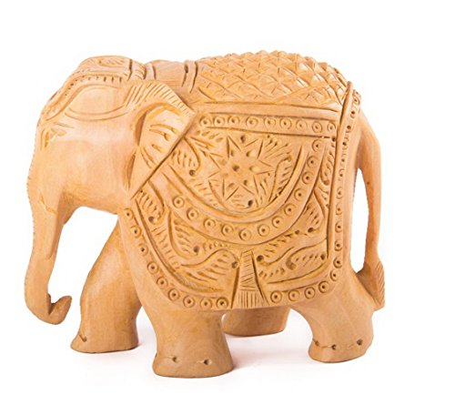 starzebra-todays-deal-elephant-statue-5-x-4-decor-hand-carved-wooden-figurine-of-elephant-from-singl