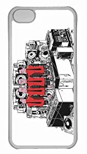 Customized iphone 5C PC Transparent Case - Dj Personalized Cover