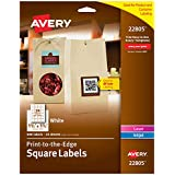 """Avery Square Labels for Laser & Inkjet Printers, Print-to-the-Edge, 1.5"""" x 1.5"""", 600 Labels (22805)"""
