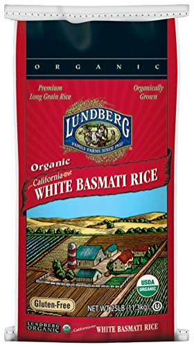 Lundberg Family Farms Organic California White Basmati Rice, 25-Pound by Lundberg