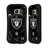Official NFL Marble 2017/18 Oakland Raiders Hybrid Case for Samsung Galaxy S6