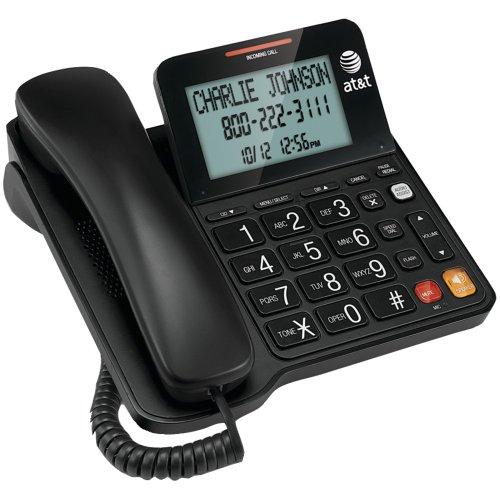 AT&T Speakerphone, Large Tilt Display, Corded, Black (Speakerphone Display)