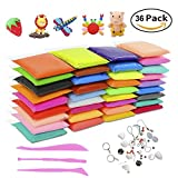 #3: Minstrel Air Dry Clay, New Upgrade 36 Colors Non-Toxic Soft Putty Modeling Clay DIY Fluffy Slime Craft Kit with Tools Stress Relief Toys Best Gift for Adults and Children