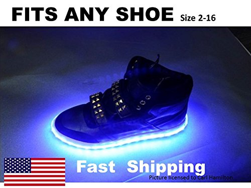 LED Shoe KIT -- UNIVERSAL fit - will fit any shoe - Light up YOUR shoes with out LED shoe light KIT --- color RED (Nike Light Up Shoes)