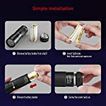 TaoTronics Black Light, 12 LEDs 395nm UV Blacklight Flashlights Detector for Pets Urine and Stains with 3 Free AAA Batteries 13