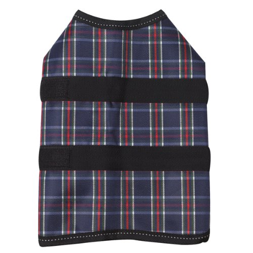 Zack and Zoey Polyester Plaid Blanket Dog Coat, XX-Large, Navy, My Pet Supplies