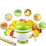 Image of Food Mash Grinding Bowl,Tinabless Multifunction Homemade Baby Food 8pcs