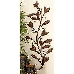Deco 79 63048 Loft Nature Metal Leaf Wall Decor, 1