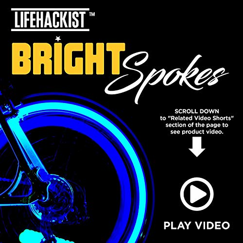Bright Spokes Premium LED Bike Wheel Lights - 7 Colors in 1 - USB Rechargeable Battery - Strong Silicone Tube Cover - 18 Modes - For all ages - (1 Tire)