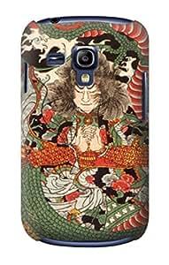 E1334 Japan Art Dragon and Tawara Toda Funda Carcasa Case para Samsung Galaxy S3 mini