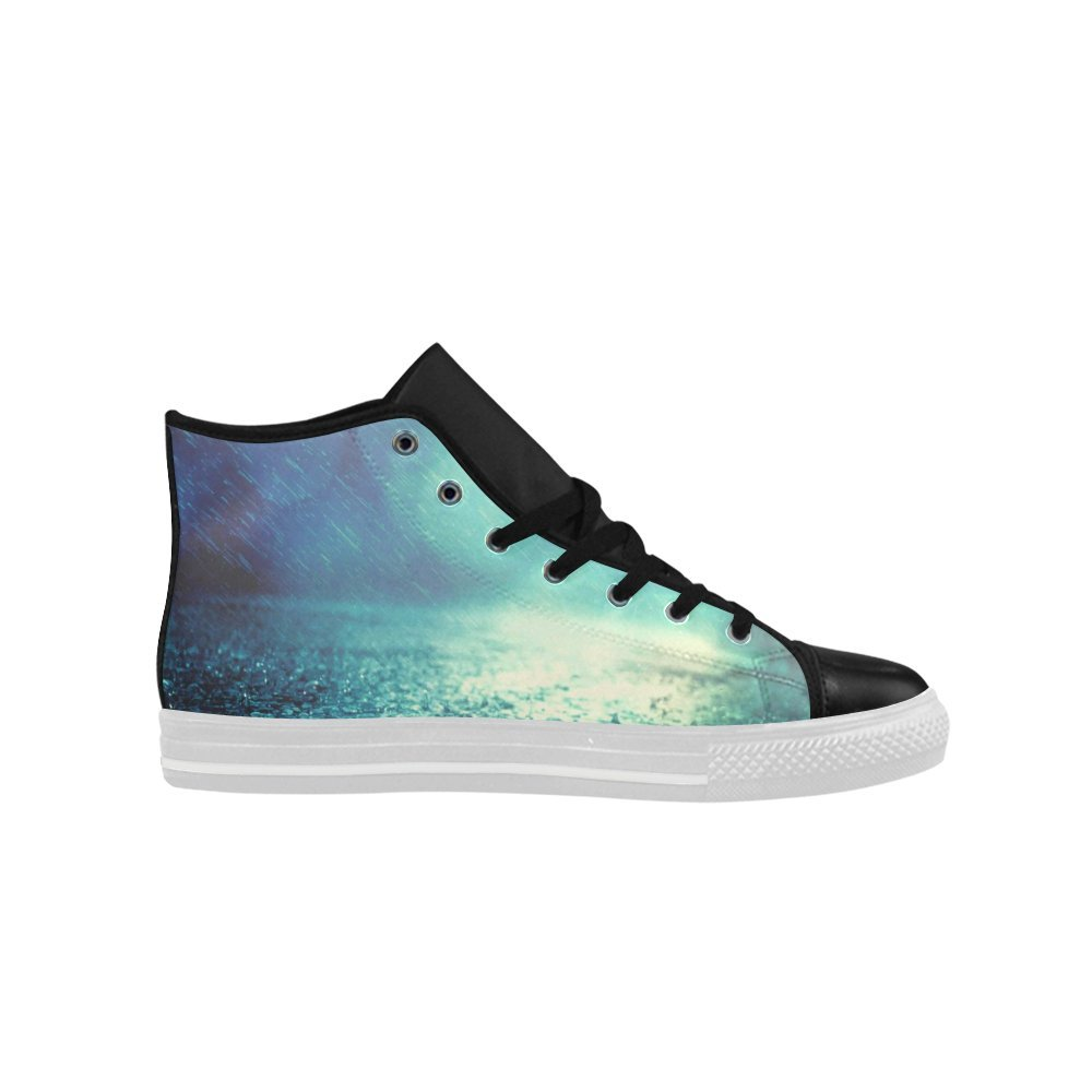 Rainbow Night High Top Action Leather Mens Shoes