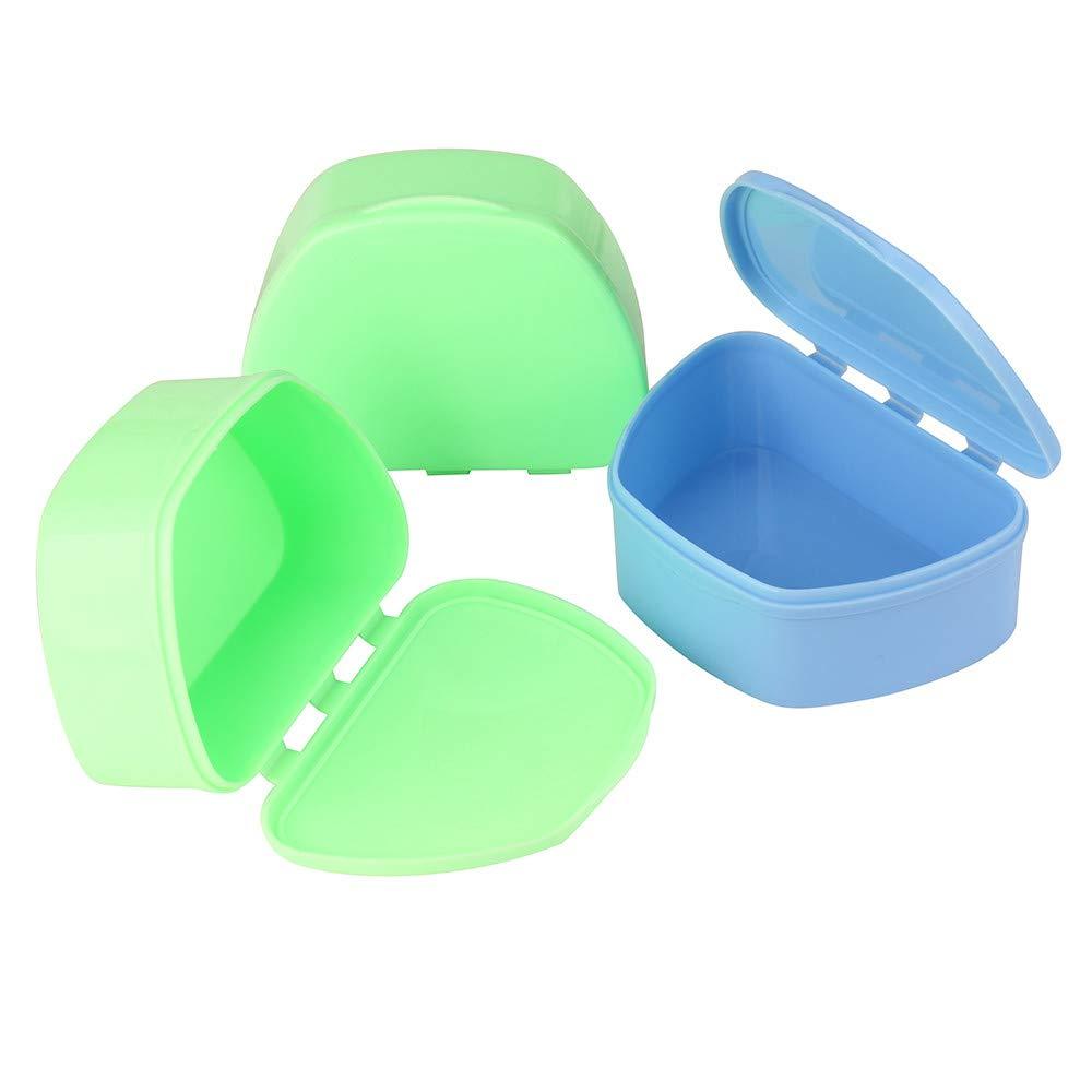 Elevin(TM) Denture Bath Appliance False Teeth Box Storage Case Rinsing Basket