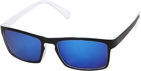 Lunettes de soleil rectangulaire bicolore Ultra légères colori couleurs très sympa accessoire cool pas cher UV 400 belle paire de lunettes souple