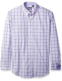 Men's Big and Tall Essential Tattersall Long Sleeve Shirt