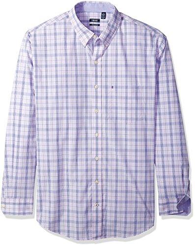 IZOD Men's IZOD Men's Premium Performance Natural Stretch Check Long Sleeve Shirt (Big & Tall and Tall Slim) from IZOD