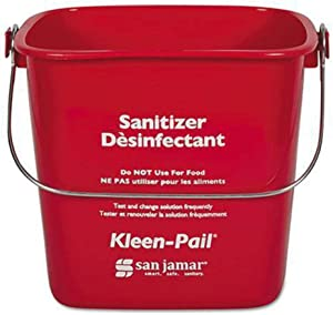 San Jamar KP97RD 3-Quart Red Kleen-Pail Container - 1 Bucket