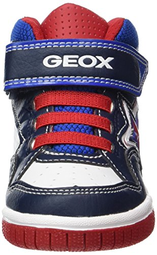 Geox Jr Gregg a, Zapatillas Altas Para Niños Azul (Navy/white)