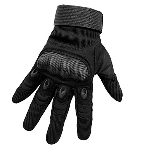 K-mover Hard knuckle Gloves Full Finger Riding Gloves Motorcycle Gloves Shooting Military Assault Tactical Gear Tactical Gloves (Black, Small)