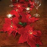 Lighted Poinsettia Garland