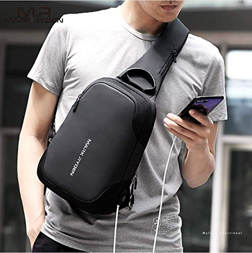 Grigio Shoulder Bag Unbalance Gym A Fanny Mark Chest Uomo Spalla Outdoor Ryden Bike Zaino Monospalla Borsa Sling gYbf6y7