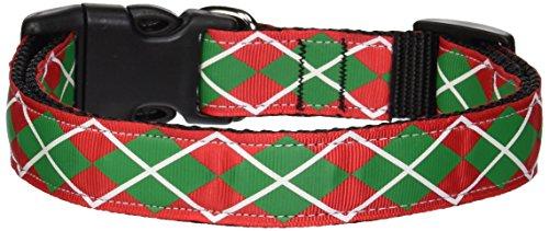 Ribbon Dog Pet Christmas Collar (Mirage Pet Products Christmas Argyle Nylon Ribbon Collar, Large)