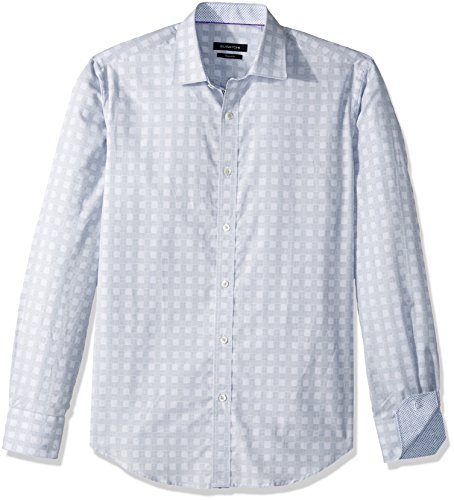 [해외]BUGATCHI 남자 면직물 자카드 패브릭 셔츠/BUGATCHI Men`s Cotton Shaped Fit Jacquard Fabric Shirt