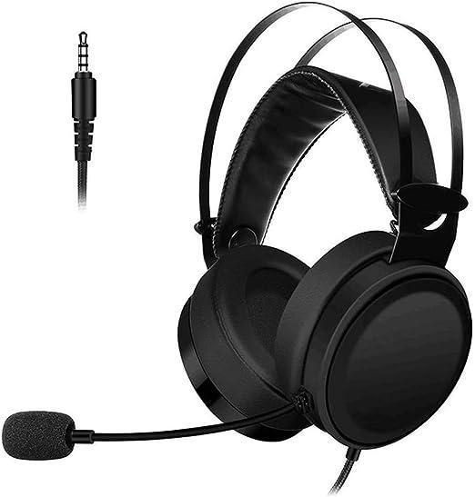 HLKYB Auriculares Bluetooth sobre la Oreja, Auriculares estéreo con Cable para Juegos con micrófono para PS4, Xbox One, PC, teléfonos celulares, Oficina, Auriculares inalámbricos: Amazon.es: Hogar
