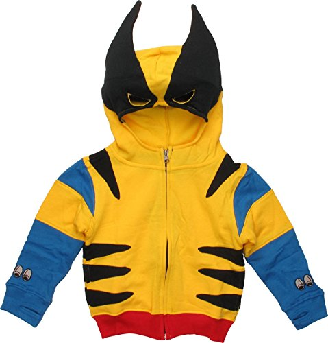[Wolverine Classic Costume Toddler Hoodie 2T] (Wolverine Costume Tee)
