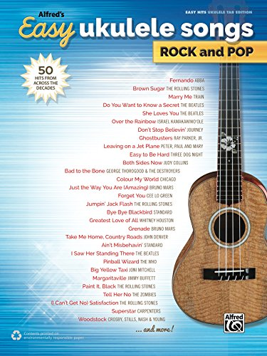 Amazon Alfreds Easy Ukulele Songs Rock And Pop 50 Hits From