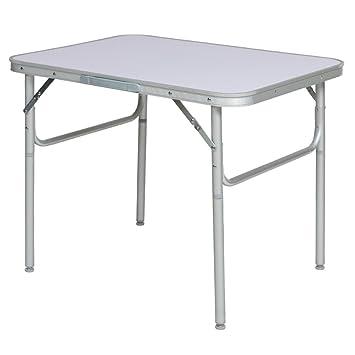 Tavoli Pieghevoli Alluminio Offerte.Tectake Tavolo Camper Campeggio Picnic Alluminio Pieghevole Per